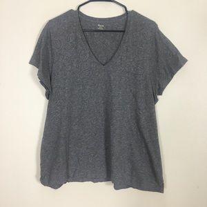 Madewell Basic Grey V Neck Tshirt